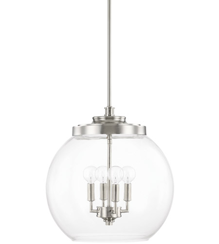capital lighting 321142pn mid century 4 light 16 inch polished