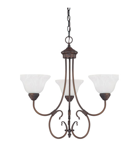 Capital Lighting 3223BB-220 Hometown 3 Light 24 inch Burnished Bronze Chandelier Ceiling Light photo