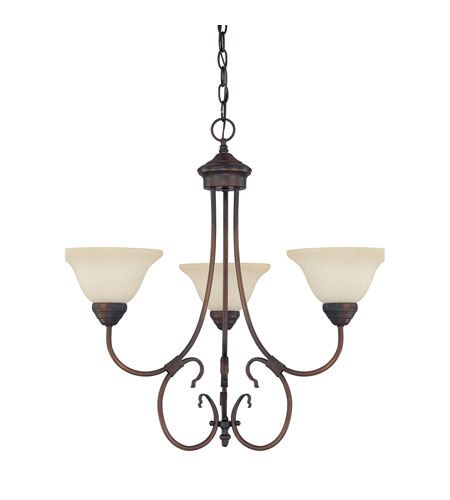 Capital Lighting Hometown 3 Light Chandelier in Burnished Bronze with Mist Scavo Glass 3223BB-257 photo