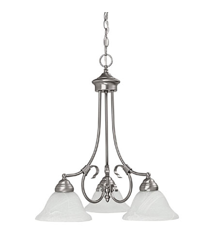 Capital Lighting Hometown 3 Light Chandelier in Matte Nickel with Faux White Alabaster Glass 3224MN photo