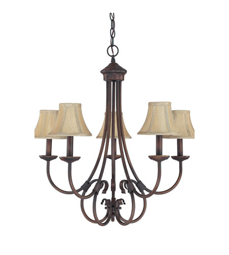 Capital Lighting Hometown 5 Light Chandelier in Burnished Bronze 3225BB-423 photo
