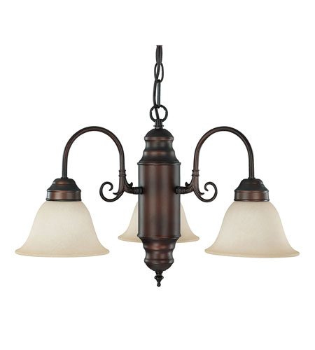 Capital Lighting Signature 3 Light Chandelier in Burnished Bronze with Mist Scavo Glass 3253BB-256 photo