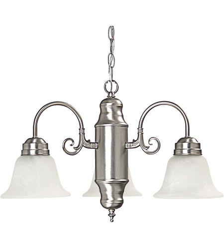 Capital Lighting 3253MN-118 Signature 3 Light 21 inch Matte Nickel Chandelier Ceiling Light photo