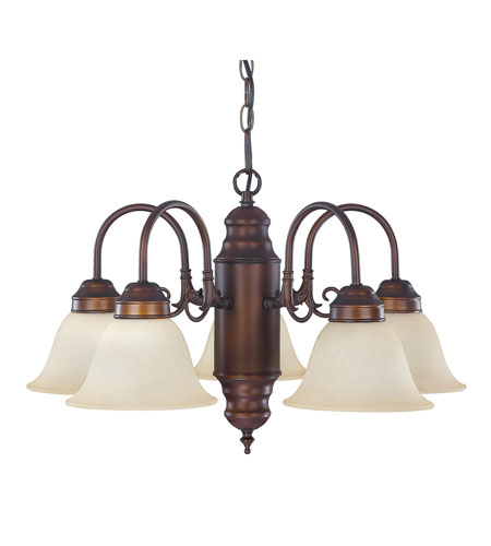 Capital Lighting Signature 5 Light Chandelier in Burnished Bronze with Mist Scavo Glass 3255BB-256 photo