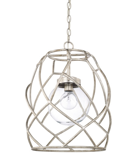 Capital Lighting 325611AS-443 Signature 1 Light 15 inch Antique Silver Pendant Ceiling Light photo thumbnail