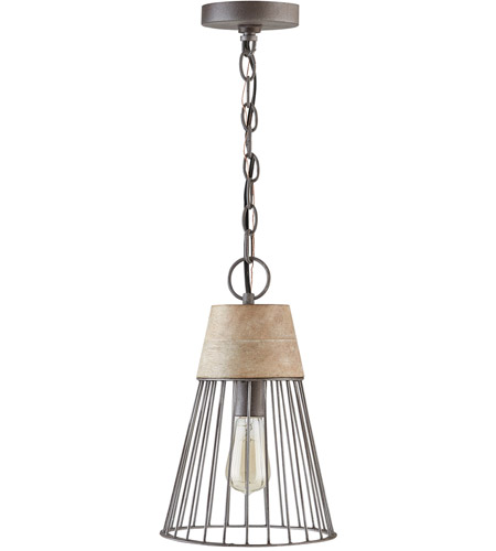 Capital Lighting 330513UW Russell 1 Light 9 inch Urban Wash Pendant Ceiling Light photo thumbnail