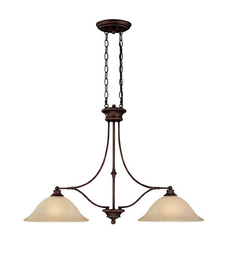 Capital Lighting 3417BB Belmont 2 Light 36 inch Burnished Bronze Island Light Ceiling Light in Mist Scavo Glass photo