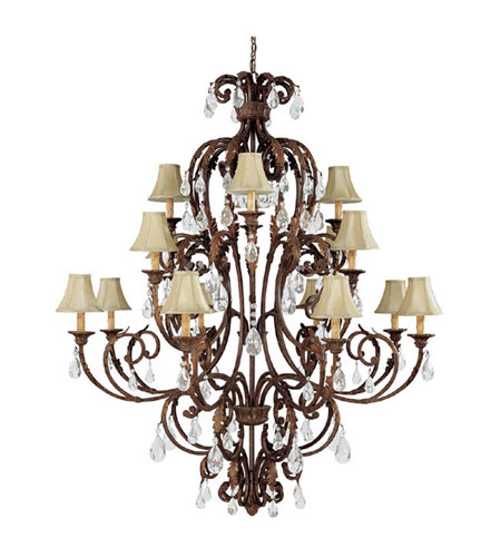 Capital Lighting Seville 16 Light Chandelier in Gilded Umber with Crystals 3450GU-419-CR photo