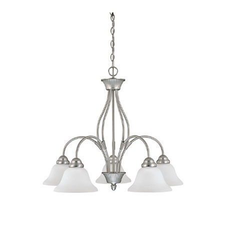 Capital Lighting Hammond 5 Light Chandelier in Matte Nickel with Acid Washed Glass 3475MN-225 photo