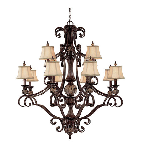 Capital Lighting Manchester 12 Light Chandelier in Chesterfield Brown 3522CB-440 photo