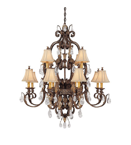Capital Lighting Grandview 12 Light Chandelier in Dark Spice with Crystals 3552DS-438-CR photo