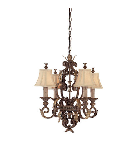 Capital Lighting Grandview 4 Light Chandelier in Dark Spice 3554DS-424 photo