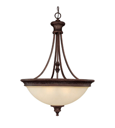Capital Lighting Hill House 5 Light Pendant in Burnished Bronze with Mist Scavo Glass 3565BB photo