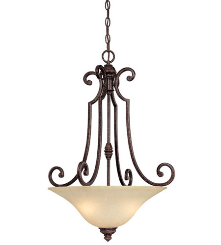 Capital Lighting Barclay 3 Light Chandelier in Chesterfield Brown with Mist Scavo Glass 3584CB photo