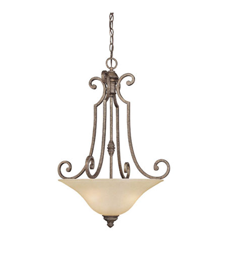 Capital Lighting Barclay 3 Light Chandelier in Creek Stone with Mist Scavo Glass 3584CS photo