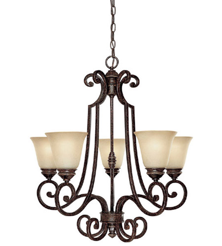 Capital Lighting 3585CB-287 Barclay 5 Light 26 inch Chesterfield Brown Chandelier Ceiling Light photo