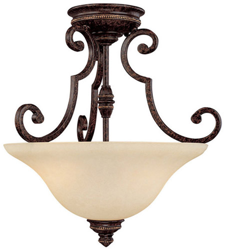 Capital Lighting 3588CB Barclay 2 Light 18 inch Chesterfield Brown Semi-Flush Mount Ceiling Light photo