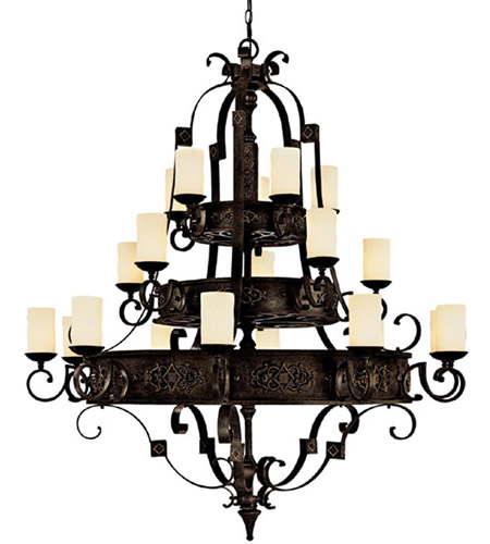 Capital Lighting River Crest 20 Light Chandelier in Rustic Iron with Rust Scavo Glass 3600RI-125 photo