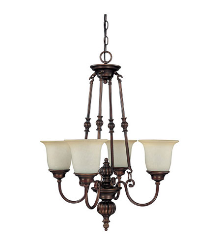 Capital Lighting Avery 4 Light Chandelier in Burnished Bronze with Mist Scavo Glass 3784BB-291 photo