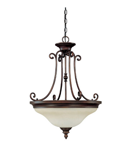Capital Lighting Avery 3 Light Pendant in Burnished Bronze with Mist Scavo Glass 3785BB photo