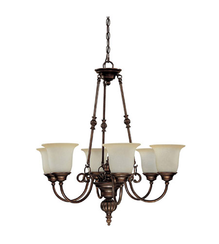 Capital Lighting Avery 6 Light Chandelier in Burnished Bronze with Mist Scavo Glass 3786BB-291 photo