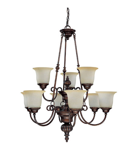 Capital Lighting Avery 9 Light Chandelier in Burnished Bronze with Mist Scavo Glass 3789BB-291 photo