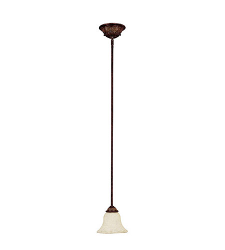 Capital Lighting Amberleigh 1 Light Pendant in Chesterfield Brown with Rust Scavo Glass 3841CB-285 photo