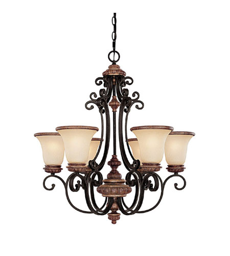 Capital Lighting Foxborough 6 Light Chandelier in Iron and Umber with Mist Scavo Glass 3866IU-252R photo