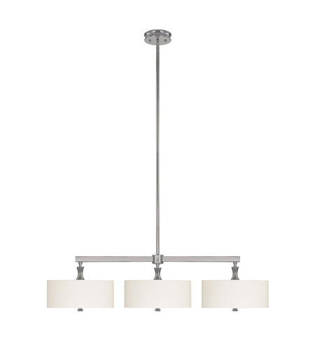 Capital Lighting Studio 3 Light Island Light in Polished Nickel with Frosted Glass Diffuser 3877PN-491 photo