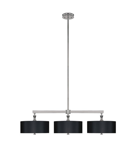Capital Lighting Studio 3 Light Island Light in Polished Nickel with Frosted Glass Diffuser 3877PN-506 photo