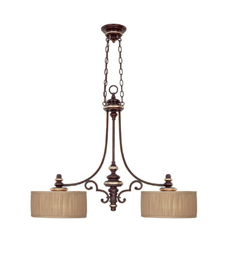 Capital Lighting Park Place 2 Light Island Light in Champagne Bronze with Frosted Diffuser Glass 3887CZ-447 photo