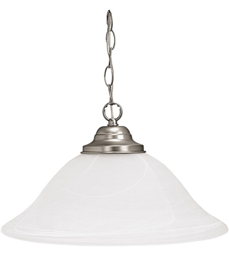 Capital Lighting Signature 1 Light Pendant in Matte Nickel with Faux White Alabaster Glass 3907MN photo