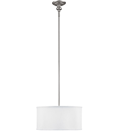 Capital Lighting 3910MN-457 Midtown 3 Light 18 inch Matte Nickel Pendant Ceiling Light in White Fabric Shade photo