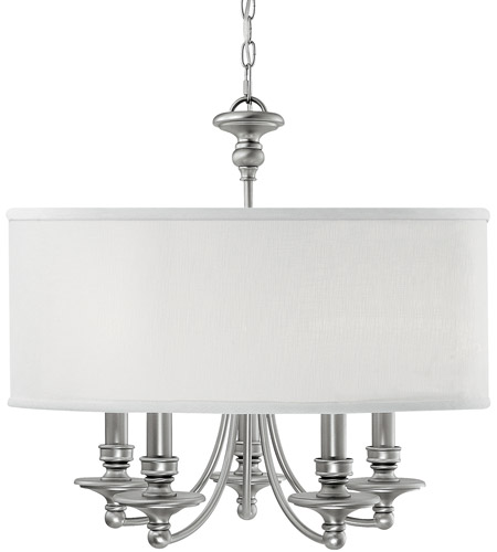 Capital Lighting Midtown 5 Light Chandelier in Matte Nickel 3915MN-455 photo