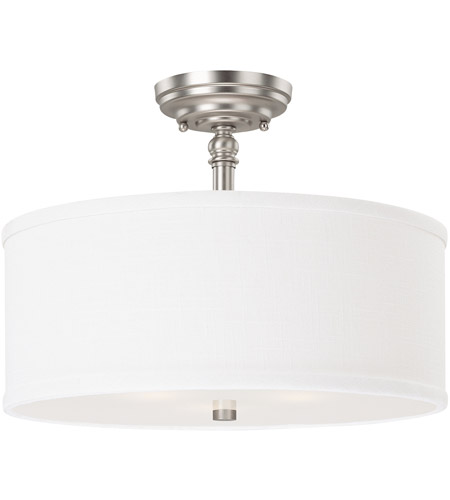 Capital Lighting Loft 3 Light Semi-Flush Mount in Matte Nickel 3923MN-480 photo