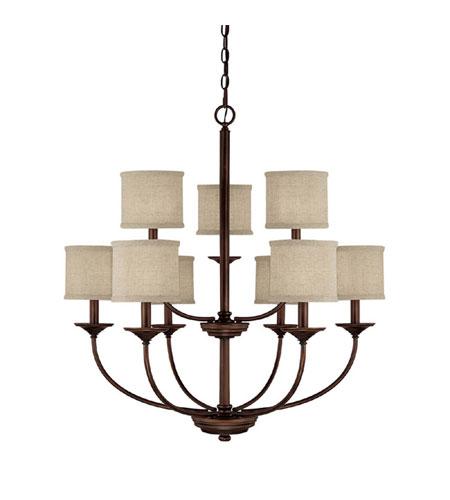 capital lighting loft 9 light chandelier in burnished bronze 3929bb 468