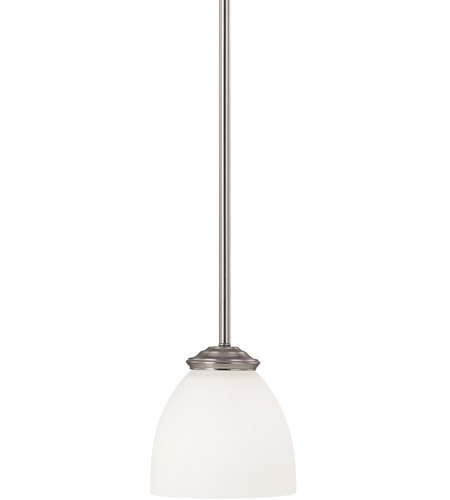 Capital Lighting Chapman 1 Light Mini Pendant in Matte Nickel with Soft White Glass 3941MN-202 photo