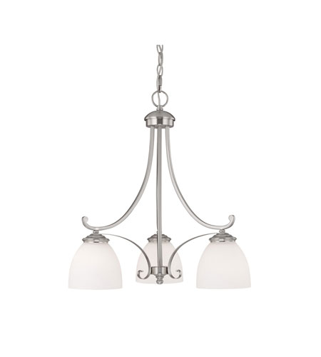 Capital Lighting Chapman 3 Light Chandelier in Matte Nickel with Soft White Glass 3943MN-202 photo