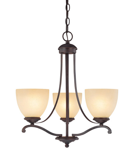 Burnished Bronze Steel Chandeliers