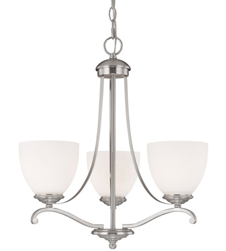 Capital Lighting 3944MN-202 Chapman 3 Light 19 inch Matte Nickel Chandelier Ceiling Light in Soft White photo