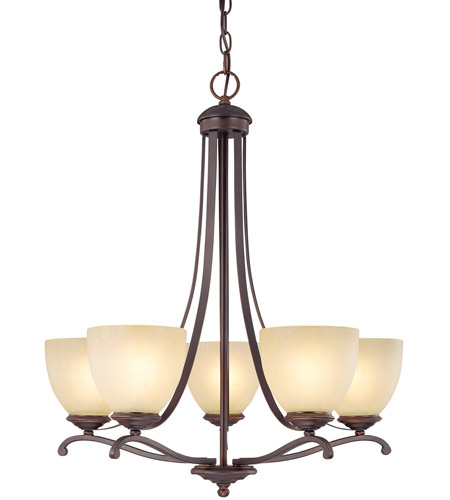Capital Lighting Chapman 5 Light Chandelier in Burnished Bronze with Tumbleweed Glass 3945BB-201 photo