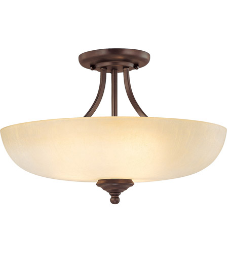 Capital Lighting Burnished Bronze Semi-Flush Mounts