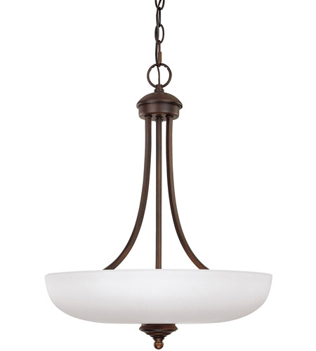 Capital Lighting 3948BB-SW Chapman 3 Light 18 inch Burnished Bronze Pendant Ceiling Light in Soft White photo