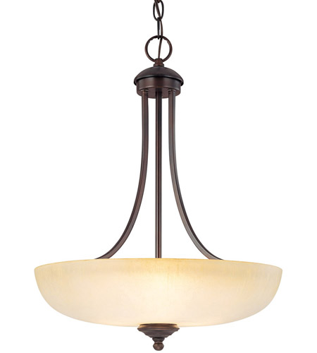 Capital Lighting 3948BB-TW Chapman 3 Light 18 inch Burnished Bronze Pendant Ceiling Light in Tumbleweed photo