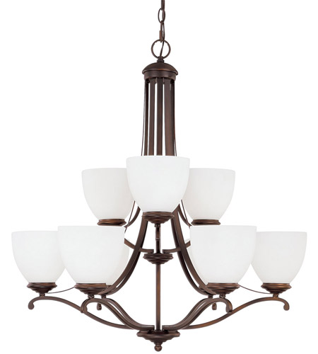 Capital Lighting 3949BB-202 Chapman 9 Light 29 inch Burnished Bronze Chandelier Ceiling Light in Soft White photo