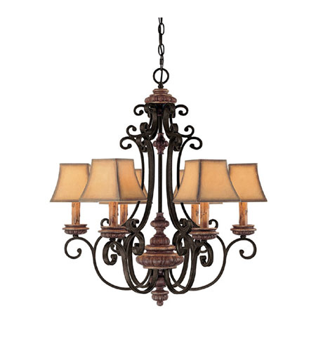 Capital Lighting Foxborough 6 Light Chandelier in Iron and Umber 3966IU-465 photo