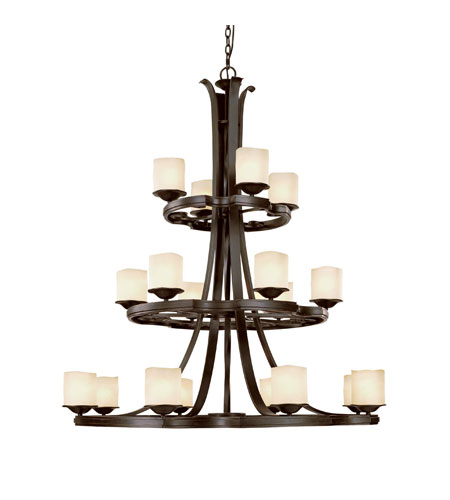 Capital Lighting Montana 18 Light Chandelier in Raw Umber with Candlelight Glass 3980RM-205 photo