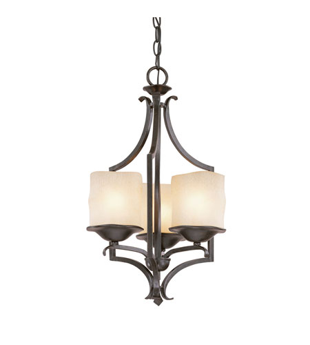 Capital Lighting Montana 3 Light Foyer in Raw Umber with Candlelight Glass 3982RM-205 photo