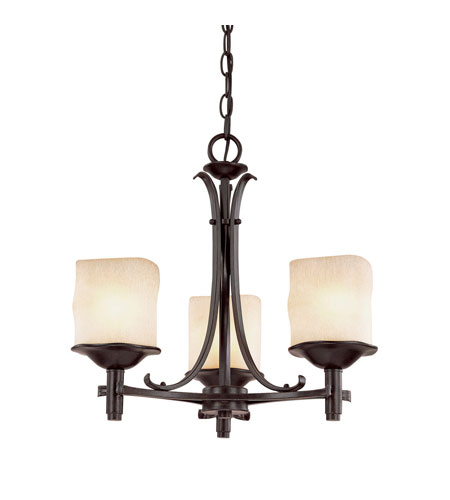Capital Lighting Montana 3 Light Chandelier in Raw Umber with Candlelight Glass 3983RM-205 photo