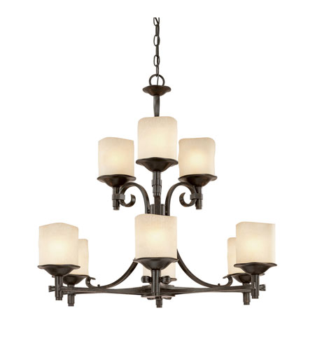 Capital Lighting Montana 9 Light Chandelier in Raw Umber with Candlelight Glass 3989RM-205 photo